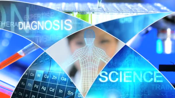 3D montage medical science motion graphics