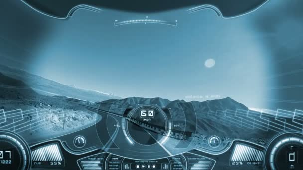 Driving pov travel apps motion graphics