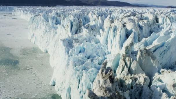 Aerial Eqi Glacier Greenland