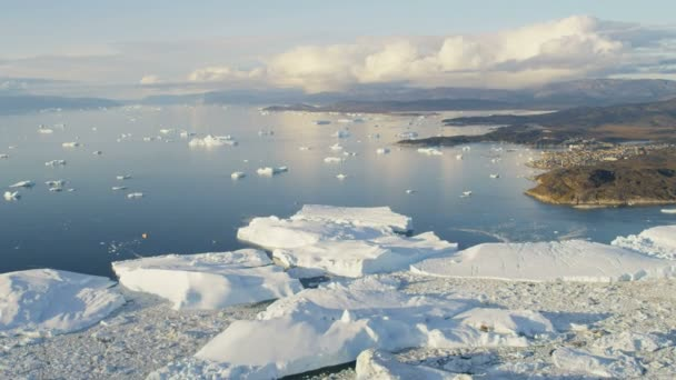 Aerial Greenland Arctic Ice Floes