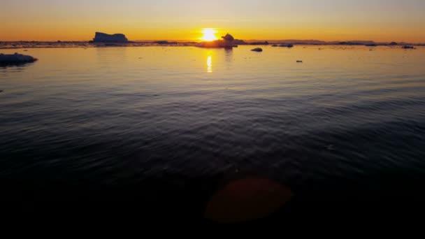 Ilulissat Icefjord Disko Bay sunset