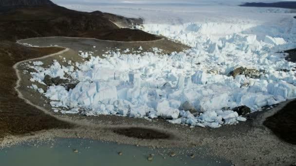 Frozen Ice Mass Arctic Glacier Greenland