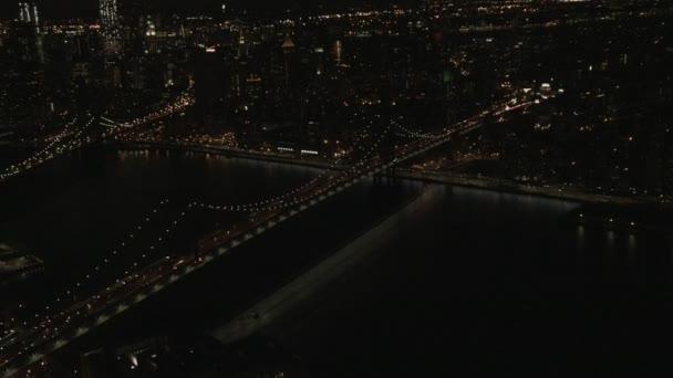 Manhattan illuminated Skyscrapers New York