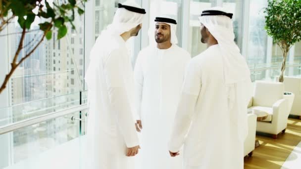 Arabic businessmen in meets in modern office