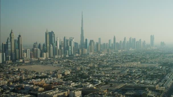 Aerial Dubai Cityscape Downtown Skyscrapers