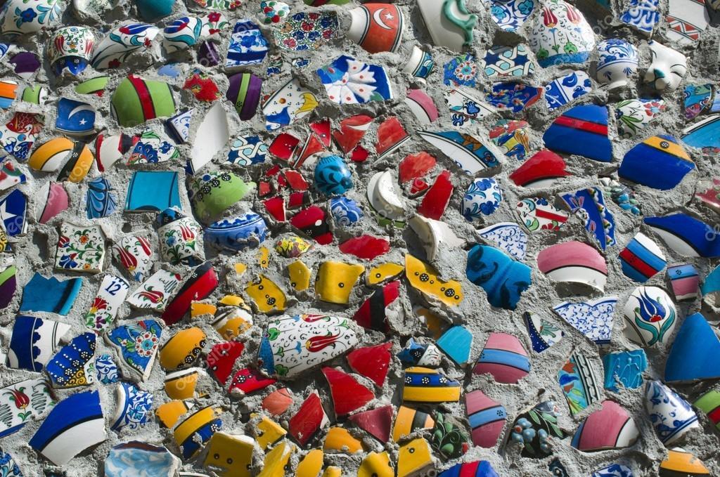 Parete mosaico di piastrelle rotte in istanbul foto for Parete a mosaico