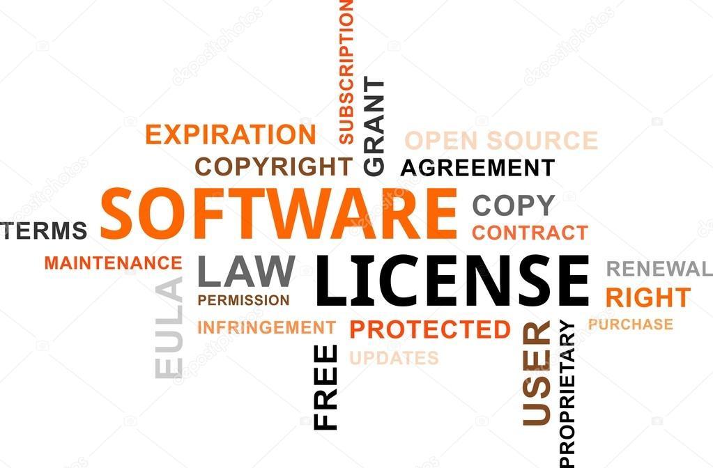 Word Cloud Software License Stock Vector Masterart 67050607