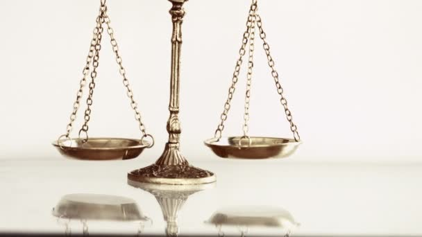 Justice scale on white