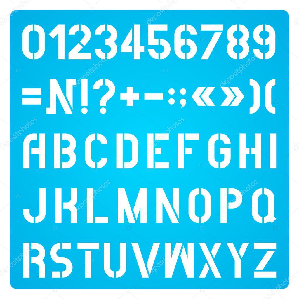 Plantilla De Letras Y Numeros Archivo Imagenes Vectoriales C Sergt