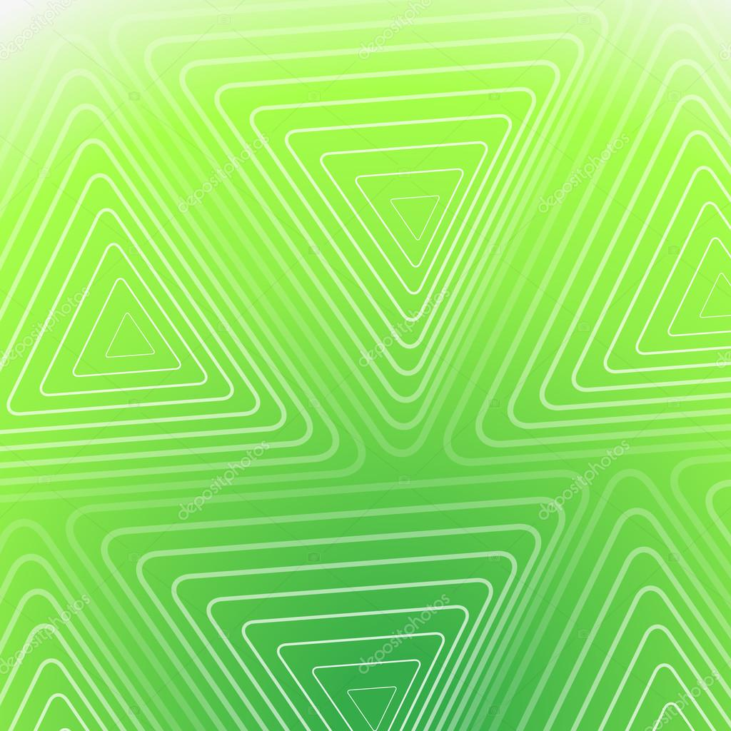 Abstract Green Background With White Triangles