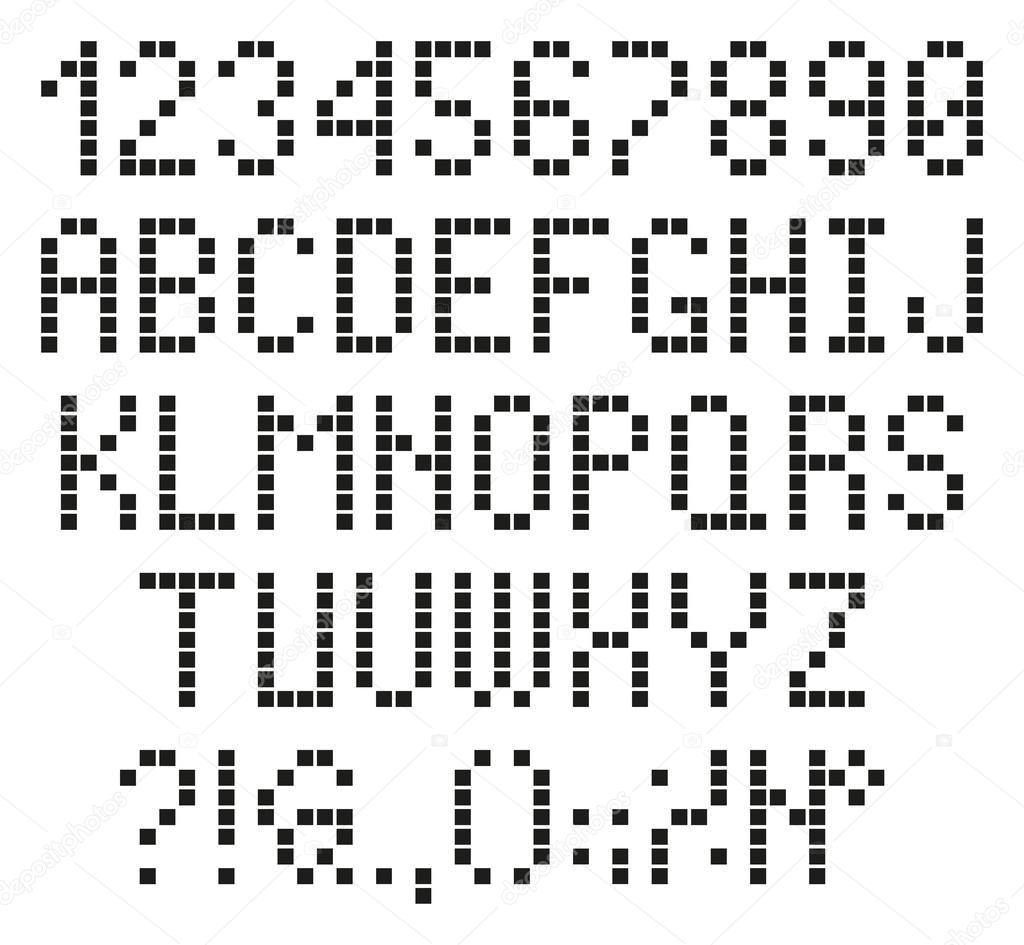 Chiffres Et Lettres De Pixel Image Vectorielle Sergt