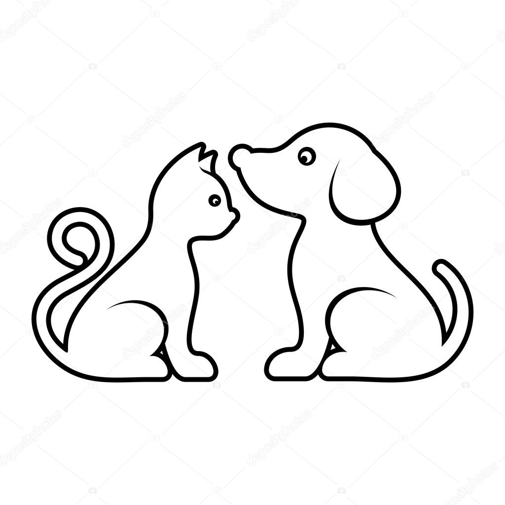 Cute Vector Cat And Dog Icons Stock Vector C Blumer 1979 103481446