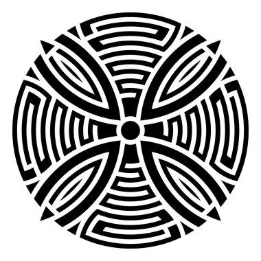 Geometric round ornament