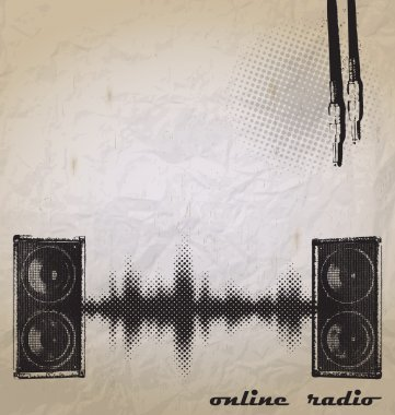 Radio wave background vector