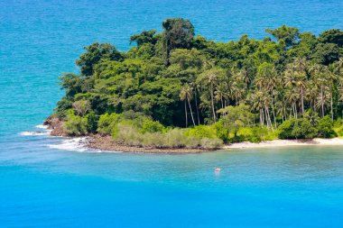 Remote tropical islands in the ocean