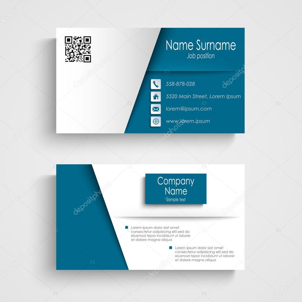 Tarjeta de presentación con plantilla de diseño azul efecto blanco ...