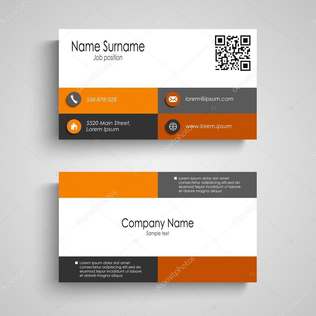Carte De Visite Avec Des Carres Gris Orange Design Vectoriel Eps 10 Vecteur Par Plisman