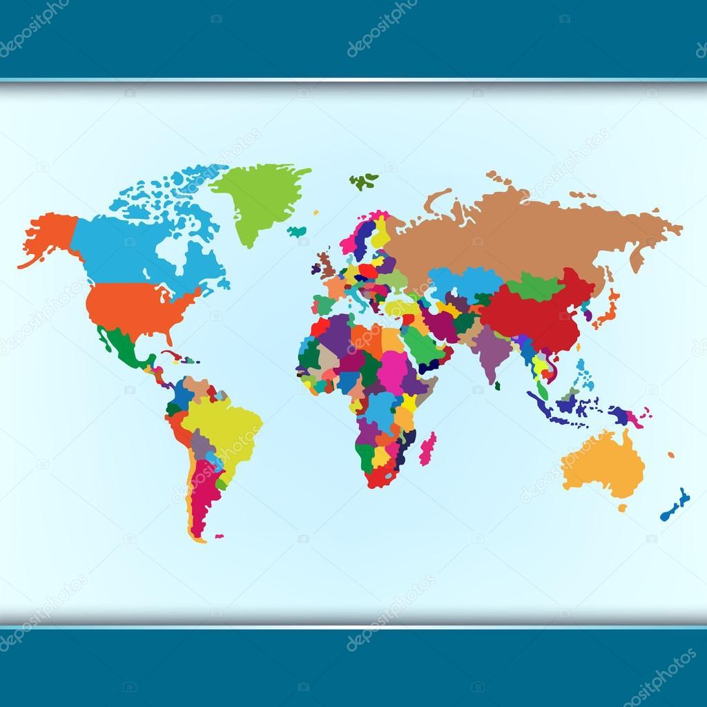 Mapa simple colorido mundo archivo imgenes vectoriales plisman simple colorful world map vector eps 10 vector de plisman gumiabroncs Image collections