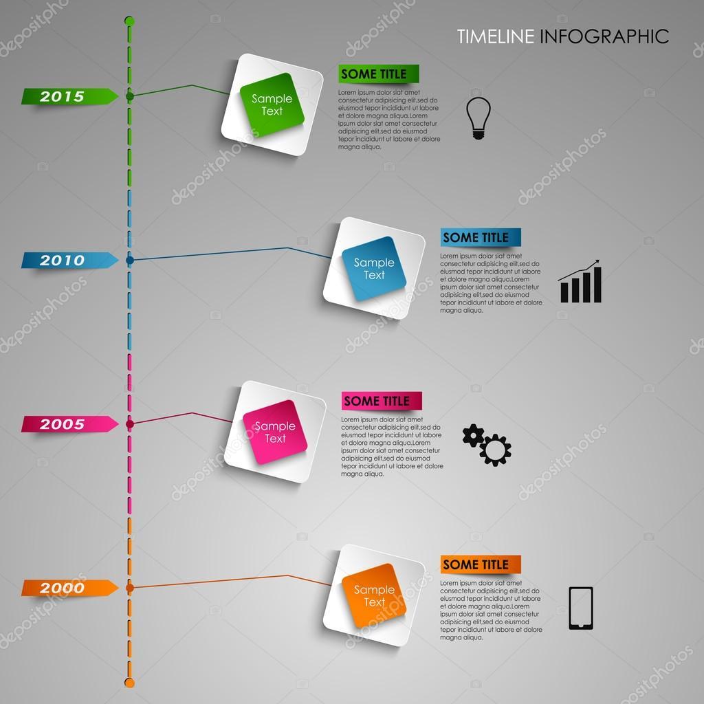 Czas Wiersz Informacji Graficzny Kolorowy Kwadrat światło