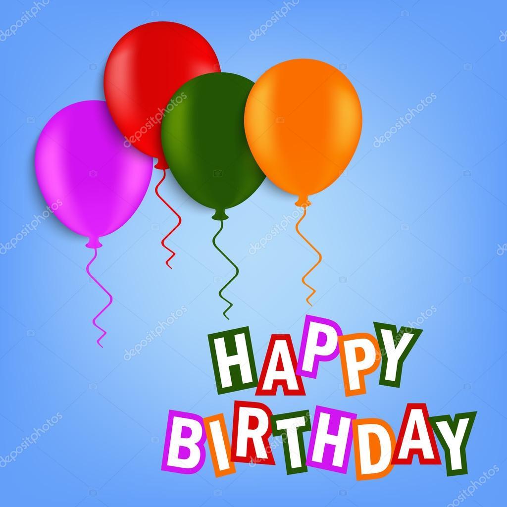 narozeninové přání narozeninové přání s barevnými balónky — Stock Vektor © Plisman  narozeninové přání