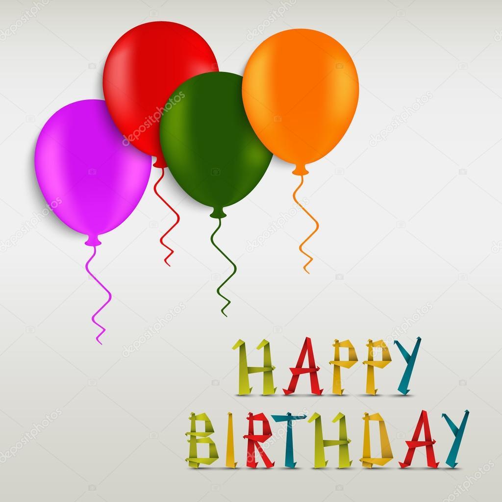 födelsedagshälsning Födelsedagshälsning färgade adresskortsmallen — Stock Vektor  födelsedagshälsning