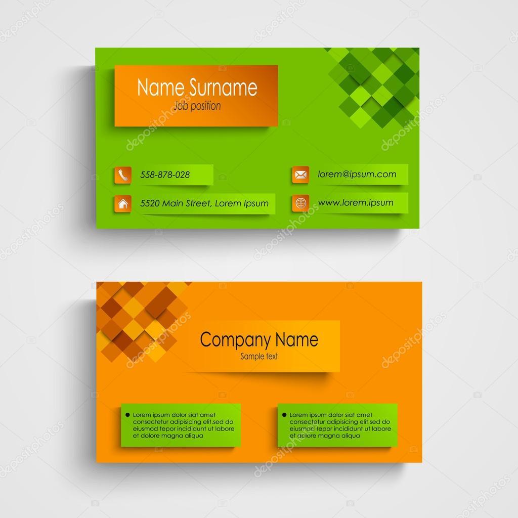 vector tarjetas de presentacion tarjeta de presentación con