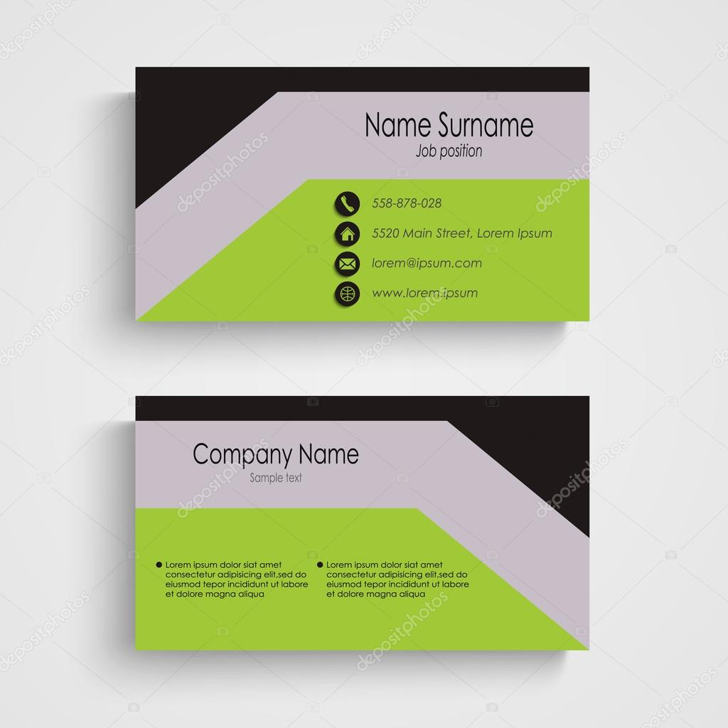 Modern business card with green gray black pattern stock vector modern business card with green gray black pattern stock vector reheart Gallery