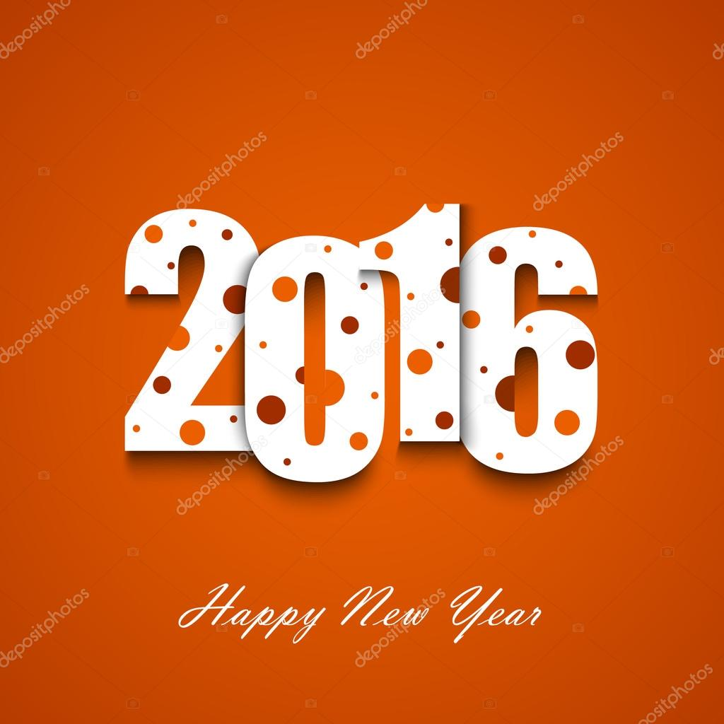 new year wishes with circles on an orange background stock vector