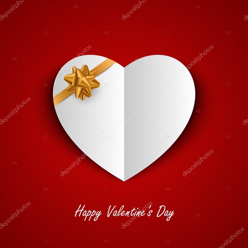 Valentinskarte mit Papier-Herzen und Multifunktionsleisten-Vorlage ...