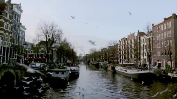 Pohled dědictví města kanálů (Brouwersgracht), Amsterdam, Nizozemsko