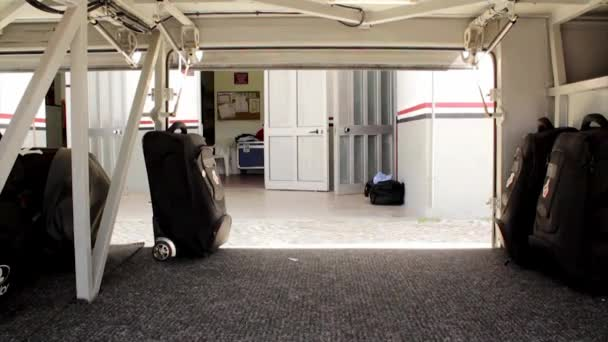 Travel bus baggage loading time lapse camera point of View