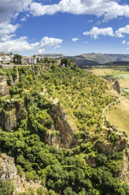 Ronda panoramic view. A city in the Spanish province of Malaga, within the autonomous community of Andalusia.