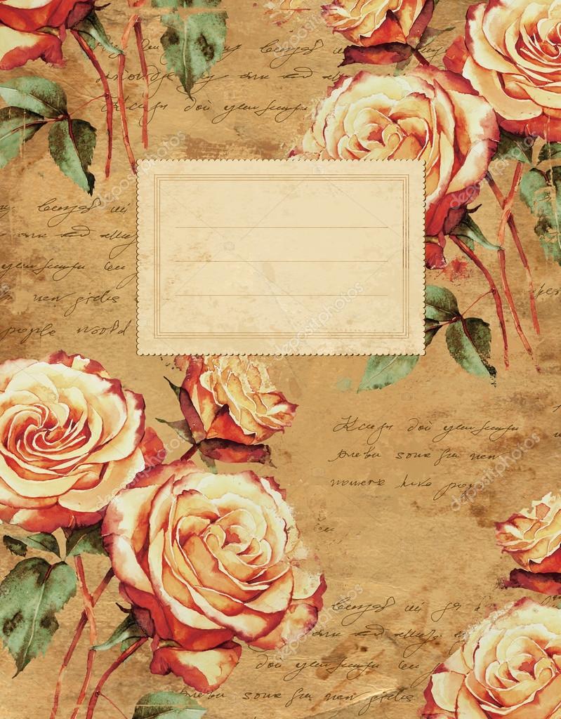 Book Cover Portadas Historicas ~ Carátula del cuaderno de flores vintage — fotos stock