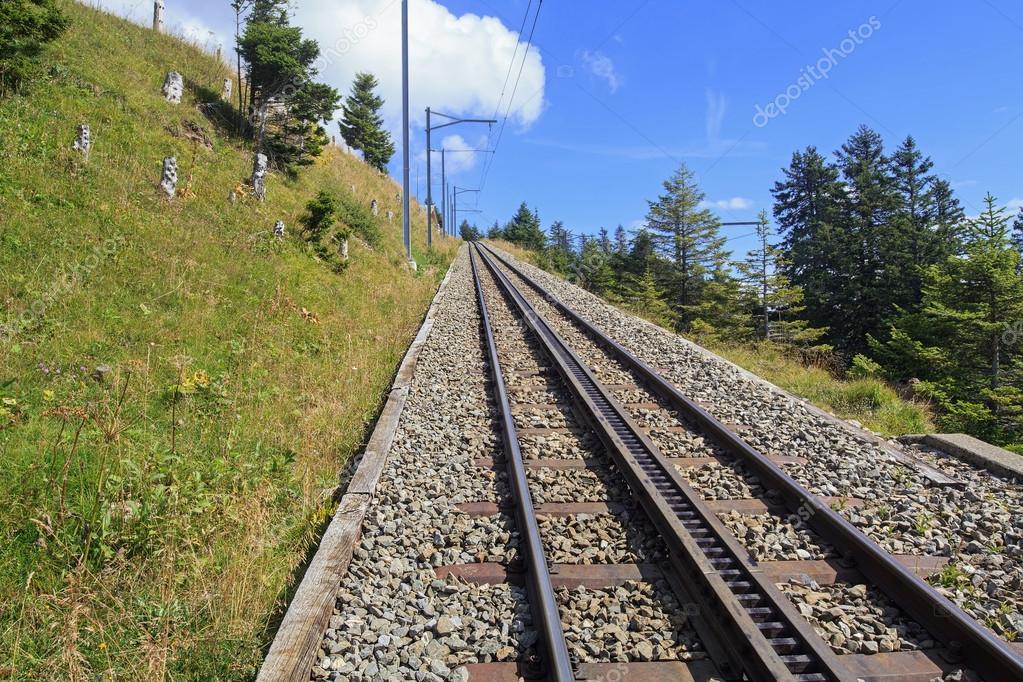Rack Railway on the Mt. Rigi