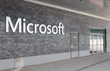 Entrance to the Microsoft Switzerland company office in Wallisellen