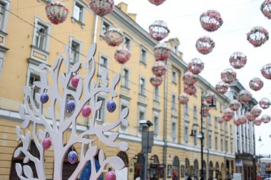 Moscow street festival, preparations for Easter