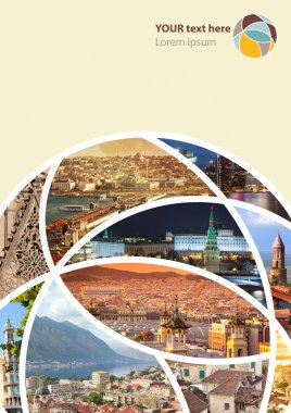 Travel collage. Can be used for cover design, brochures, flyers.