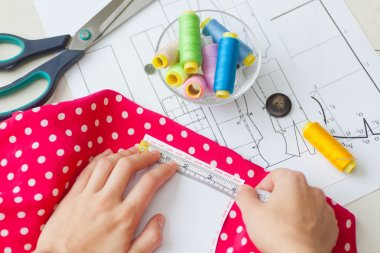 sewing kit, different subjects