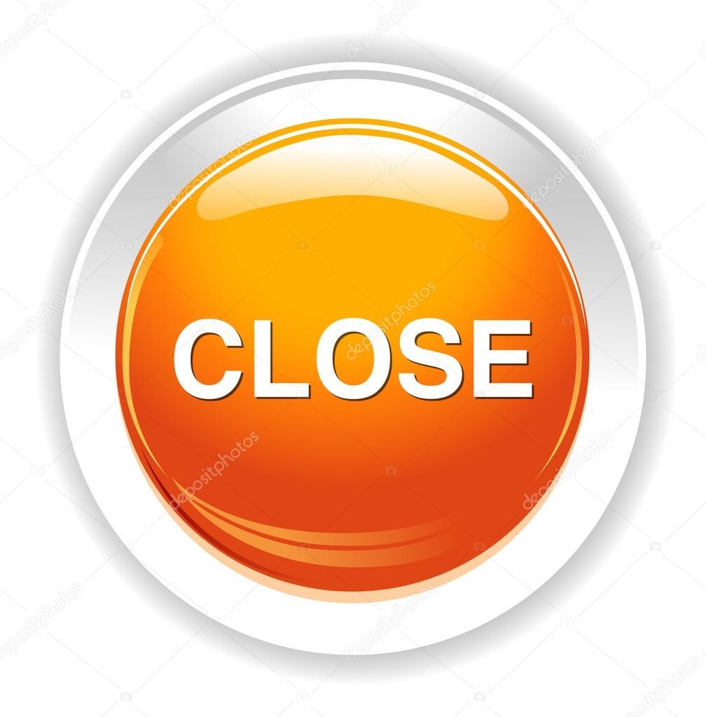 Icono del bot n cerrar vector de stock sarahdesign85 for Icono boton