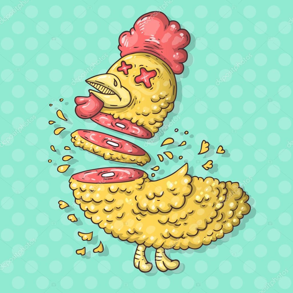 Imágenes Pollos Animados Muertos Ilustración De Pollo