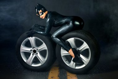 Female in catwoman costume
