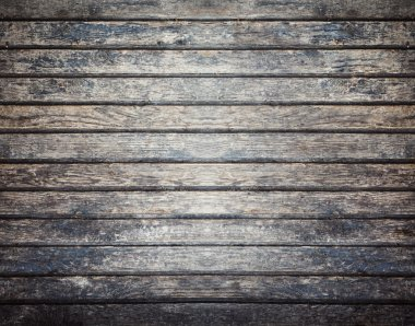 Old dark wooden board background, plank with texture, empty copy space stock vector