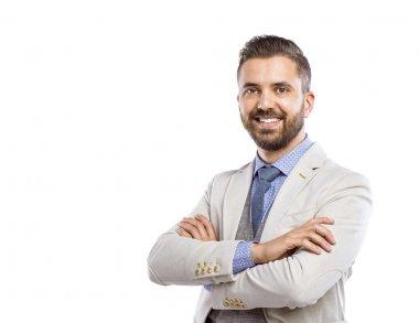 Modern businessman with beard