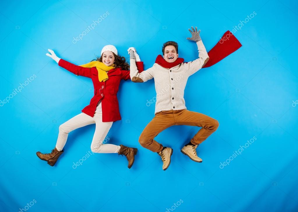 Funny winter couple