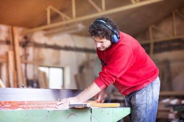 Man carpenter working
