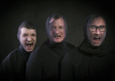 Three thieves in balaclavas