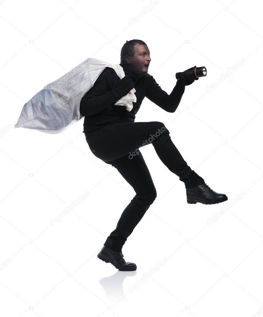 Resultado de imagem para ladrão com um saco nas costas