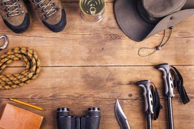 Equipment for hiking on floor