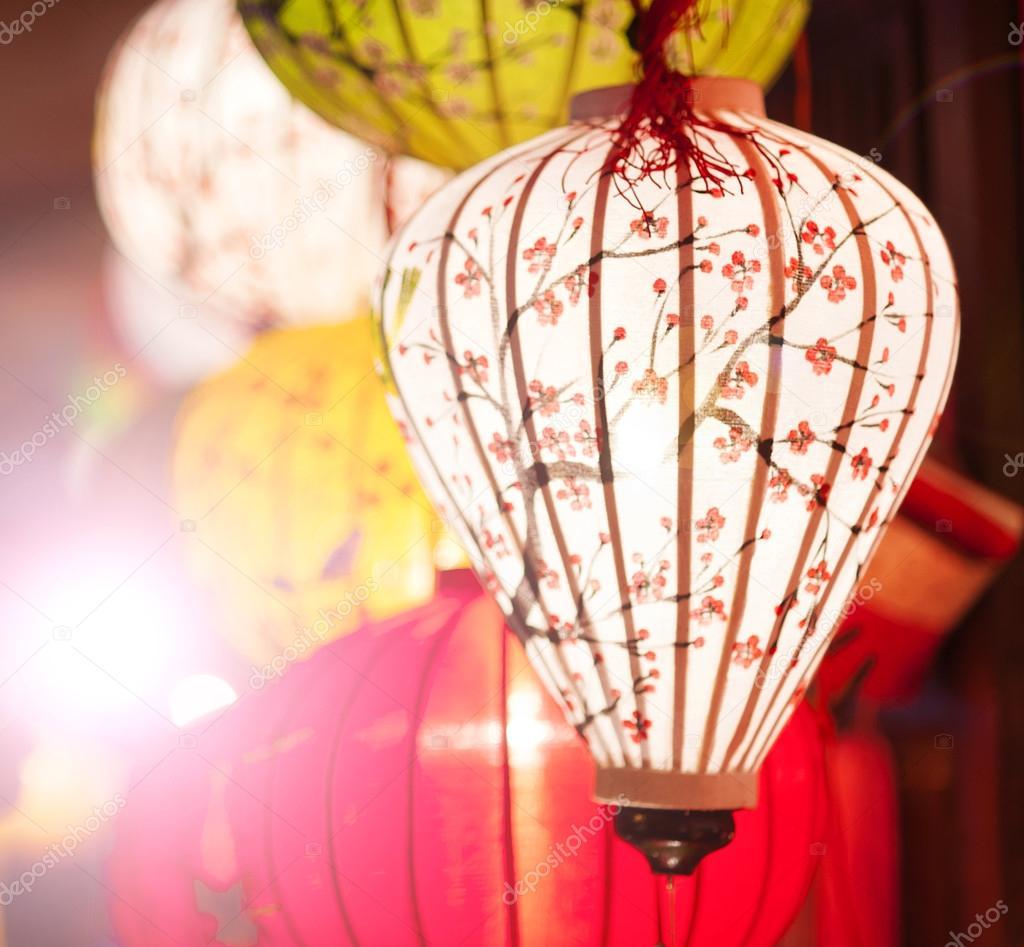 Traditional colorful silk lanterns