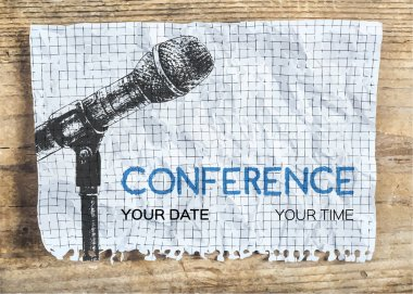 Conference template with microphone